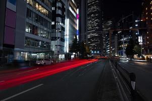City sparkles light streets night photo