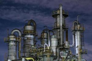 Environmental pollution factory exterior night photo