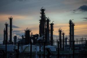 el exterior de la fábrica de contaminación ambiental foto
