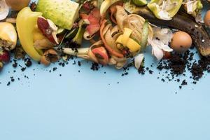 concepto de cocina de basura vista superior foto