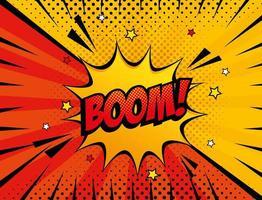 explosion boom pop art style icon vector