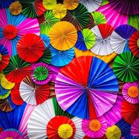 Colorful paper flower abstract for background photo