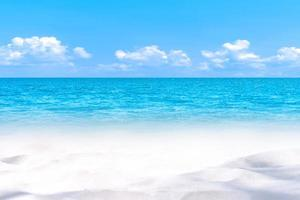Soft white sand beach. travel summer time. Abstract background. photo