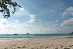 Tropical beach and sea background photo