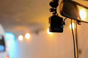 Car security concept. recording car camera photo