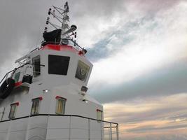 cabina del capitán en el barco foto