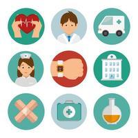 bundle set of medicine icons vector