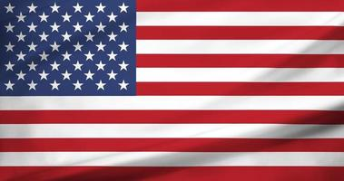 USA America flag fabric silk wave texture photo