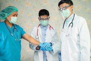 Asian doctor team to treat infection Covid-19 Coronavirus photo