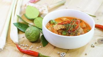 Panaeng Curry with Pork with spices photo