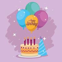 Happy Birthday cake vector design