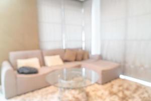 Desenfoque abstracto y sala de estar desenfocada para el fondo foto