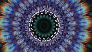 mandala astratto, meditazione magica ornato. video