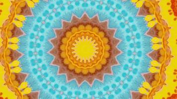 abstrato de mandala, magia de meditação ornamentada. video