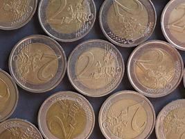 2 monedas de euro, unión europea foto