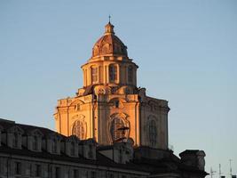 San Lorenzo church dome in Turin photo