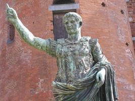 Roman statue in Turin, Italy photo
