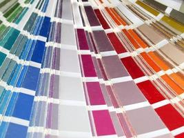 tabla de carta de colores foto