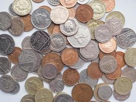 monedas de libra, reino unido foto