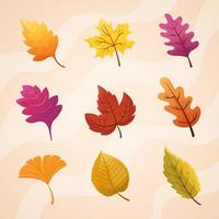 Autumn Leaves Sticker vector