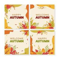 Autumn Leaves Card Collection vector