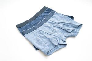 Blue men underwear isolated on white background photo