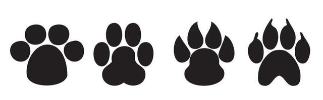 Paw Print. Dog and cat paw print. vector