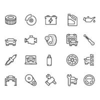icon set of Car Service Icons vector