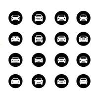 icon set of car transportation. Editable, isolated at white background vector