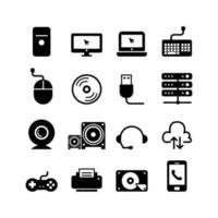 Computer accessories line icon vector