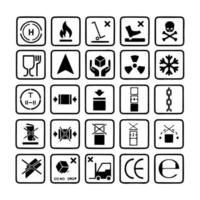 Packaging icon symbol set 2 of 2 vector