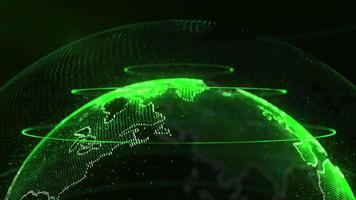 abstracte achtergrond met globe video