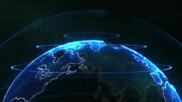 abstracte achtergrond met blauwe wereldbol video