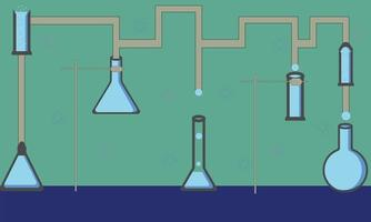 science and chemistry laboratory vector