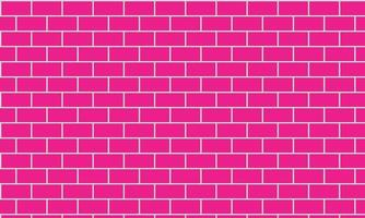 pink brick wall background vector