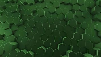 fondo verde abstracto con hexágonos video