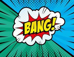 explosion bang pop art style icon vector