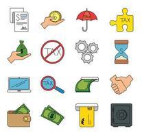 Icono de impuestos y dinero aislado diseño vectorial vector