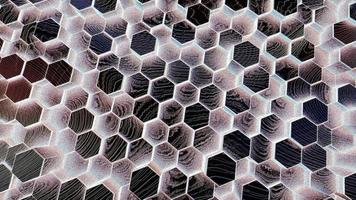 Abstract Black Background with Hexagons video