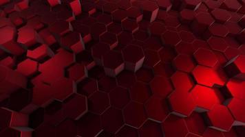 fondo rojo abstracto con hexágonos video