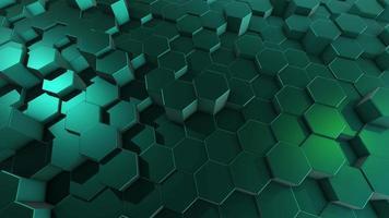 sfondo verde astratto con esagoni video
