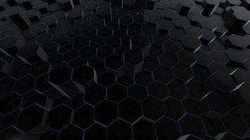 fondo negro abstracto con hexágonos video