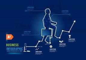 Infographics Businessman market success Concept Design options  Vector