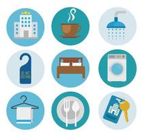 Isolated hotel icon set vector design