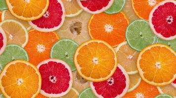 fond fait d'oranges, citrons verts, pommeau, mandarines, citrons video