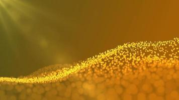 onda de partículas. fundo de pontos futuristas com uma onda dinâmica video