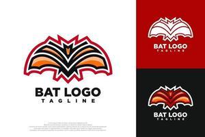 Bat logo design vector