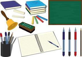 Back to school knowledge day collection vector illustration