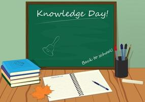 Knowledge day back to school vector illustration
