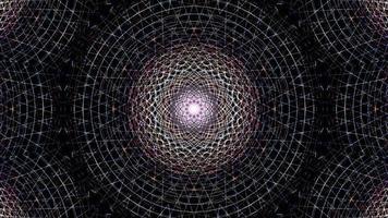 hipnótico holográfico transformando caleidoscópico estrella dj vj loop video